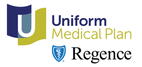 Uniform Medical Plan and Regence logos