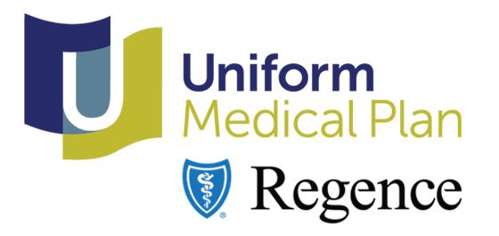 Uniform Medical Plan and Regence logos